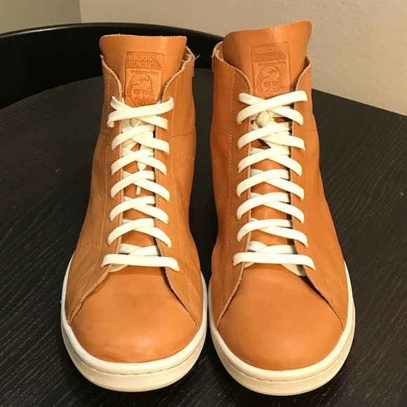 wholesale dealer 0fd61 c11f3 adidas Other - ADIDAS Stan Smith Mid PC Tan Horween Leather Shoes